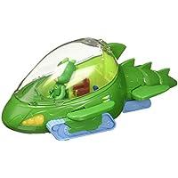 PJ Masks Vehículo Deluxe, Gekkomóvil y Gekko (Bandai 24623), Color Verde