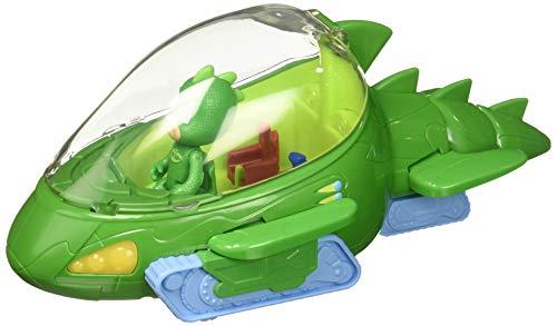 PJ Masks- Vehículo Deluxe, Gekkomóvil y Gekko (Bandai 24623), Color Verde (