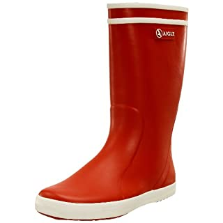 Aigle Unisex Kids' Lolly Pop Wellington Boots, Red (Rouge/Blanc), 8.5 UK Child