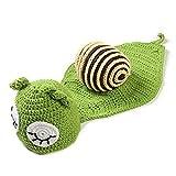 Baby Neugeborene Foto Requisiten gestrickte Kleidung Beanie Hut Outfit Baby Fotografie Props, grüne Schnecke