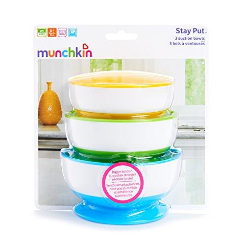 Munchkin Three Stay Put Suction Bowl 3-pack