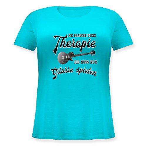 Instrumente - Ich brauche keine Therapie ich muss nur Gitarre spielen - Lockeres Damen-Shirt in großen Größen mit Rundhalsausschnitt Türkis