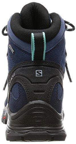 Salomon Quest Prime GTX, Scarpe da Arrampicata Donna Blu (Slateblue/DEEP BLUE/bubble Blue)