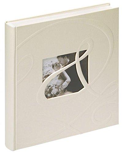 Walther UH-122 Hochzeitsalbum - Tiamo mit Ausstanzung zur persönlichen Gestaltung zur persönlichen Gestaltung, 60 Seiten, 28 x 30,5 cm weiß