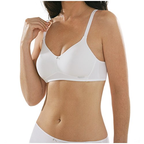 comazo Damen platin BH ohne Bügel Größe 90C, Farbe weiß