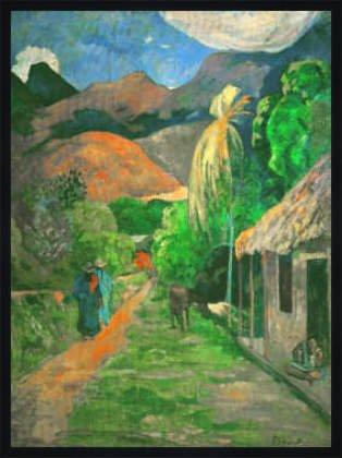 tableau-avec-cadre-paul-gauguin-road-into-the-mountains-73-x-99-bois-fortuna-l-noir-mate-de-soie