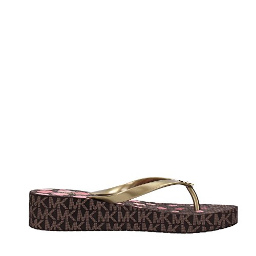 Michael Kors Michael by Chaussures Bedford Tongues Fleur Rose Brun Femme Marron