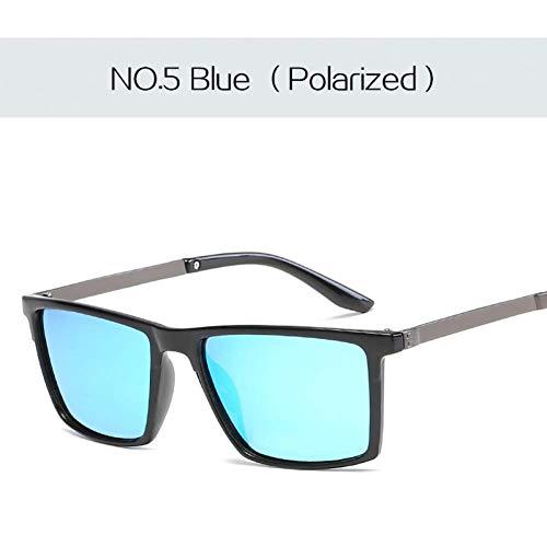 YHEGV Hd Objektiv Sonnenbrille Männer Polarisierte Vintage Quadrat Sonnenbrille Herren Driving Sonnenbrille Ultraleicht Uv400 Brillen