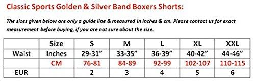 ... Herren Klassische Sport Gold Silber Gerippte Boxershorts 3-12 er  Packung Unterhose Neu 6PACK Pack