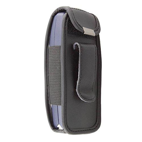caseroxx Borsa in pelle con clip da cintura per Nokia 3310/3330, Funda carcasa vera pelle (con finestra trasparente) in nero