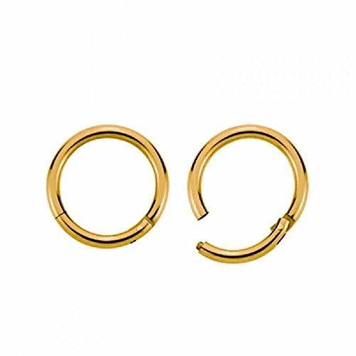 Gold Steel - Segment Clicker (Piercing Ring Schmuck Smooth Closure Ring gold) Stärke: 1,2 mm | Durchmesser: 7 mm