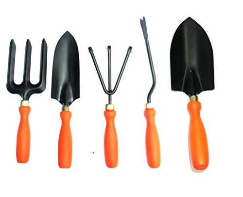 Samsansteel Gts Garden Tool Set (Set Of 5)(Orange)