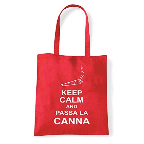 Art T-shirt, Borsa Shoulder passa-la-canna Rosso