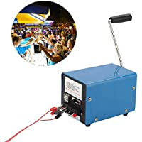 Jannyshop Tragbare Handkurbel Generator Notfall Generator USB Ladegerät Haushalt (Max Power 20 Watt)