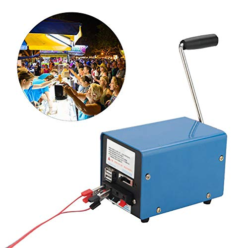 LeKing Generatore a manovella Manuale Generatore a manovella Generatore di Emergenza di Campeggio di Emergenza Interfaccia USB Centrale Portatile per Alimentazione Mobile Escursionismo Viaggiare