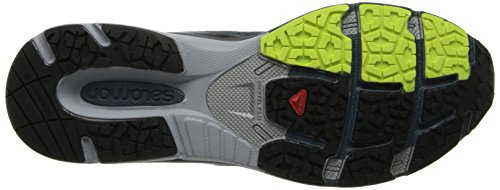 Salomon - X-Scream 3D - Sneaker, homme Gris (Grey Denim/Black/Fluo Yellow)