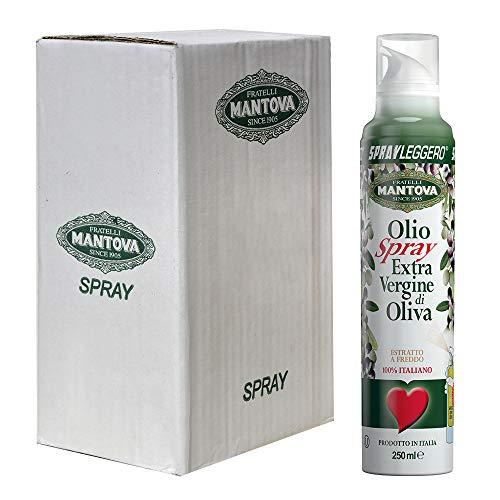 Olio extravergine di oliva 100% italiano, estratto a freddo (6 x 250 ml)-con lo spray risparmi fino al 90% di prodotto