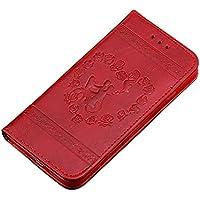 Preisvergleich für Hülle für iPhone 6S,Hülle für iPhone 6,Homikon PU Leder Hülle Retro Schön Blume Prägung Schutzhülle Brieftasche...