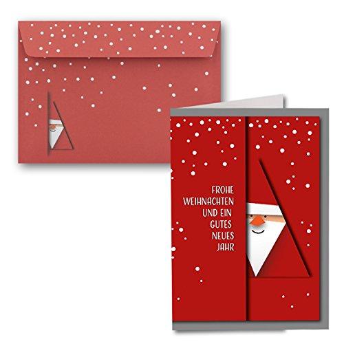 Weihnachtskarten Beschriften.10x Weihnachtskarten Din A6 Alle Lieben Nikolaus Mit Brief