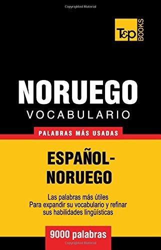 Vocabulario Español-Noruego - 9000 palabras más usadas