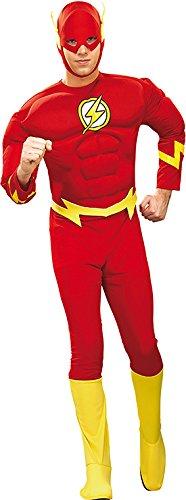 Rubie's 3 888079 XL - Flash Deluxe Muscle Chest Kostüm für Erwachsenen, Größe XL
