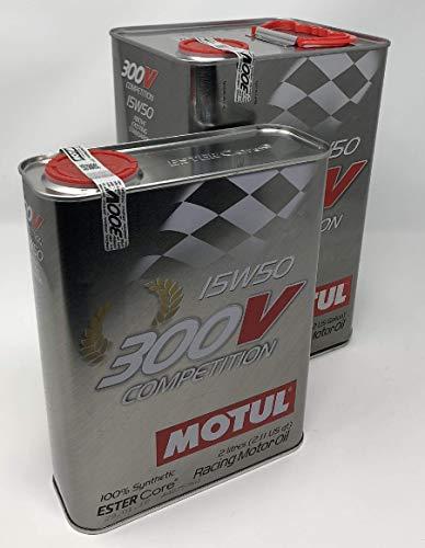Motul Racing Motor Oil 103920 300V Competition 15W-50, Pack 7 litross