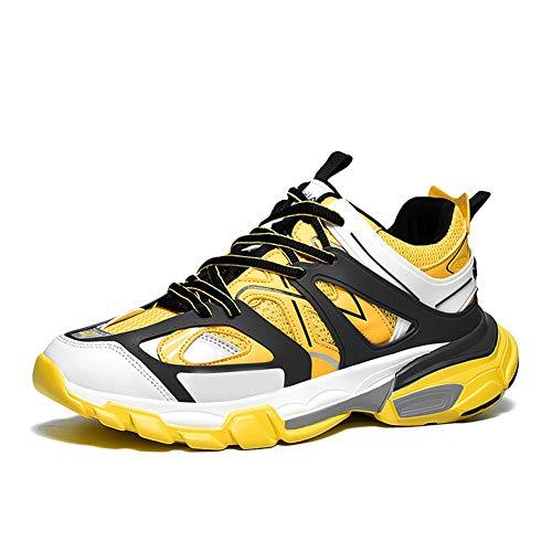 Zapatillas de Correr para Mujer Color Mezclado con Cordones Zapatillas de Deporte para Caminar al Aire Libre Mujeres Zapatillas de Deporte de Malla Transpirable al Aire Libre