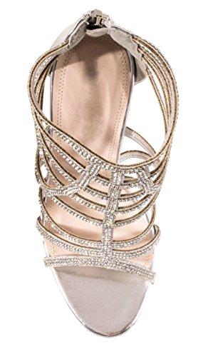 Elara , Hi-Top Slippers femme Silber