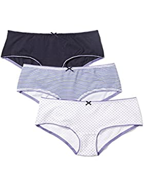 Iris & Lilly Culotte para Mujer, Pack de 3