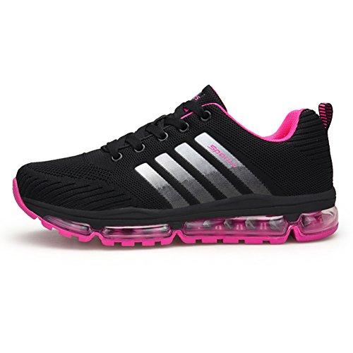 Fexkean Unisex Sportschuhe Laufschuhe Turnschuhe Atmungsaktiv Sneakers Air Sport Casual Shoes Herren Damen (8068Rose41)