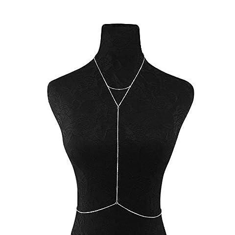 ZHUOTOP Women's Beach Bikini Belly Waist Body Chain Harness Necklace Jewelry