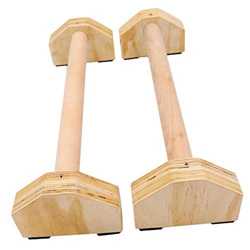 CUTICATE 2 Stücke Ooden Parallettes Gymnastik Calisthenics Handstand Bar Trainingsausrüstung