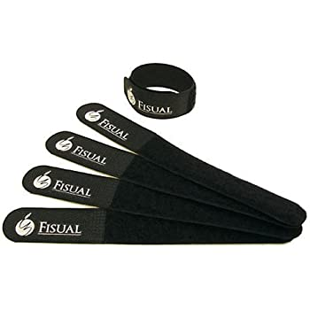 Tiger Reusable Hook And Loop Cable Ties Black Pack Of