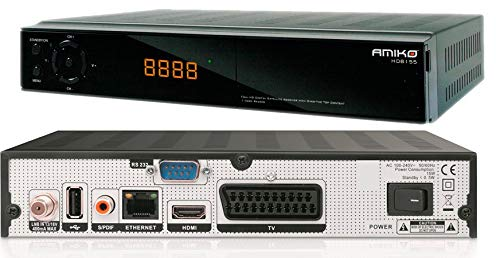 Amiko HD8155 Full HD Digital HEVC Satellite Receiver & Media Player HEVC265