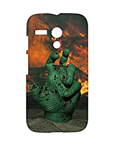 Mobifry Back case cover for Motorola Moto G X1032 Mobile ( Printed design)