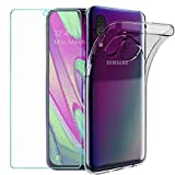 Wanxideng - Case for Samsung Galaxy A40 + Tempered Glass