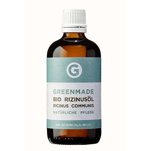 Bio Rizinusöl 100ml - 100% reines, kaltgepresstes Öl von greenmade