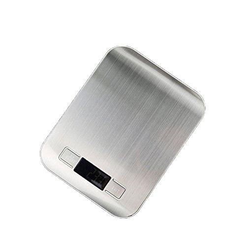 ZCH Flache Edelstahl Elektronische Küchenwaage 1G Hohe Präzision Küche Elektronische Skala Backskala,Silver