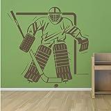 Sshssh Sport Wandtattoo Schlafzimmer Eishockey Tor In Goal Hockey Wandaufkleber Stadion Gym Kunst Aufkleber Wasserdichte Tapete84 * 84 Cm