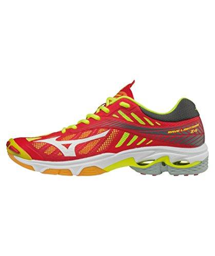 Mizuno Wave Lightning Z4, Chaussures de Running Homme rouge/blanc/jaune
