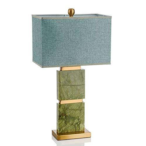 BuyBuyBuy Nordic Luxuriöser Mode Schreibtisch Kreative Dekoration Wohnzimmer Schlafzimmer Studie Minimalistische Moderne Lampe Marmortisch Büro 40 * 40 * 75cm Warmes Licht Klassisch edel