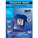 Fer sur le transfert pour imprimante jet d'encre A4 Papier transfert pour T-Shirt foncé T-Shirt x 20 feuilles