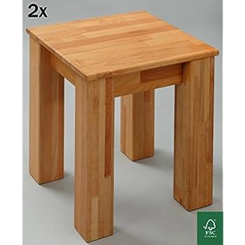 2 X Esszimmer Stuhl Massivholz Buche FSC 100% Bonn 35x35x45 Cm Hocker