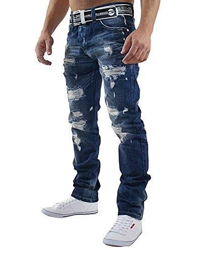 Redbridge by Cipo & Baxx Herren Jeans Hose RB-157 9740, Größe 33W / 34L, Farbe dunkle Waschung (Dunkle Jeans Hose)