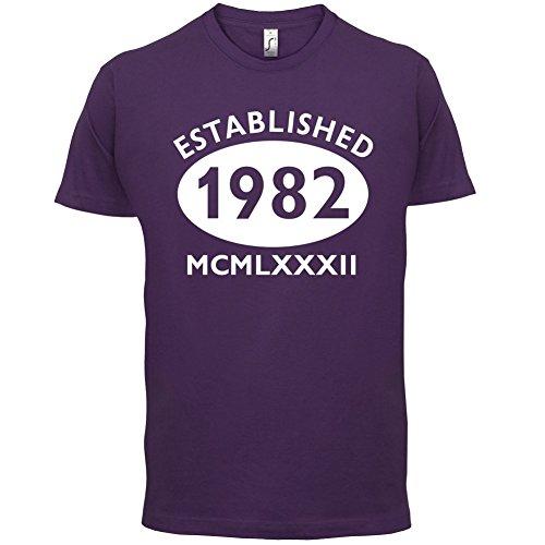 Gegründet 1982 Römische Ziffern - 35 Geburtstag - Herren T-Shirt - 13 Farben Lila