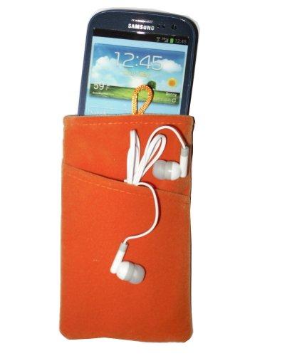 Komfort-top Socken (smartec24® Komfort Socke mit Außentasche in orange 9cmx15cmx1,5cm. Optimaler Schutz durch innenseitige Vliesversteppung und Oberseitenverschluss. Top Angebot!)
