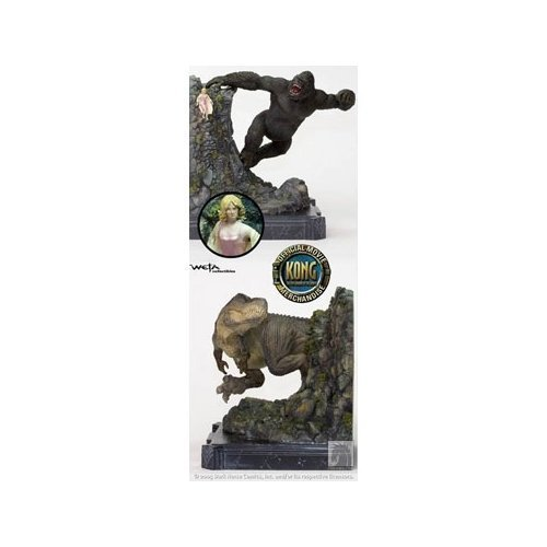 King Kong Kong vs. V-Rex Limited Edition Bookends by Weta
