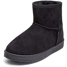 252cd509c2cd7 MForshop Stivaletti Donna Tronchetto Pelliccia Scamosciato Mammut Winter  Boots 7602-pa