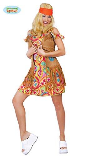 COSTUME hippie FIGLIA DEI FIORI anni 70 VESTITO donna CARNEVALE festa a tema