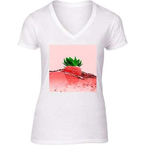 v-ausschnitt-wei-damen-t-shirt-gre-m-erdbeere-essen-by-wonderfuldreampicture